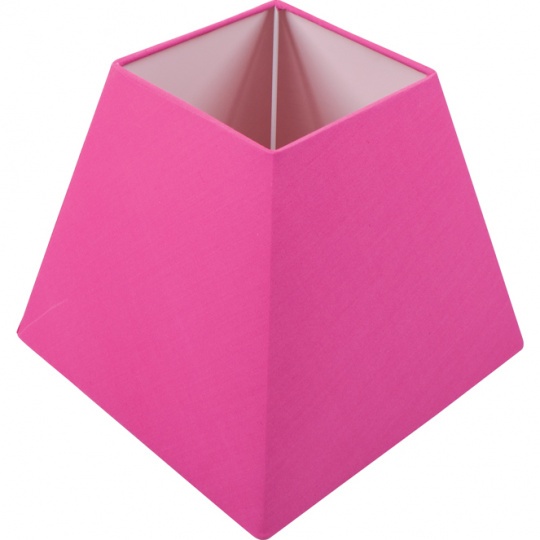 Lampshade IRLANDES square prism large with fitting E27 L.22xW.22xH.18,5cm Pink