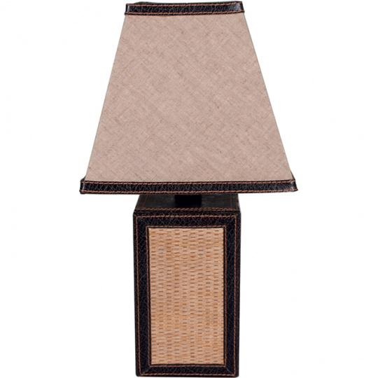 Table Lamp OTÍLIA square 1xE14 L.18xW.18xH.35cm Brown/Beije